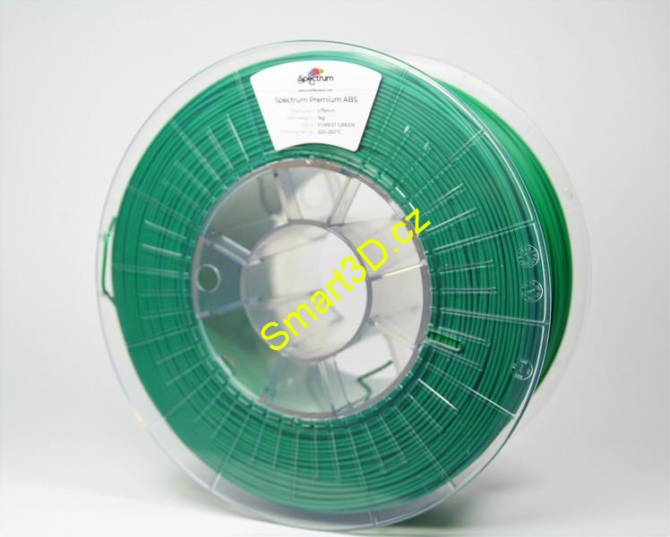 "Filament SPECTRUM / ABS SMART / ZELENÁ ""Forrest"" / 1,75 mm / 1 kg"