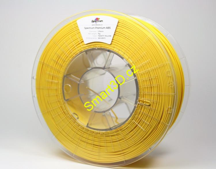 "Filament SPECTRUM / ABS / ŽLUTÁ ""Tweety"" / 2,85 mm / 0,85 kg"