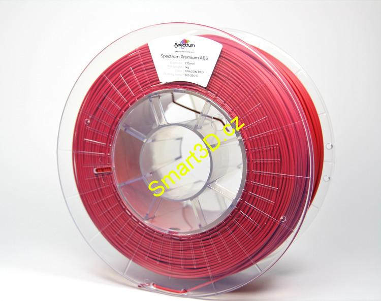 "Filament SPECTRUM / ABS / ČERVENÁ ""Dragon"" / 1,75 mm / 0,85 kg"