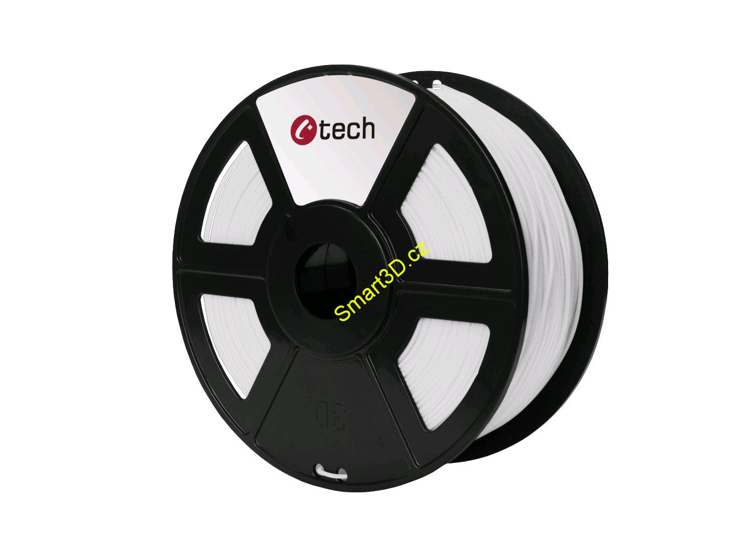 Filament C-TECH / PLA / BÍLÁ / 1,75 mm / 1 kg