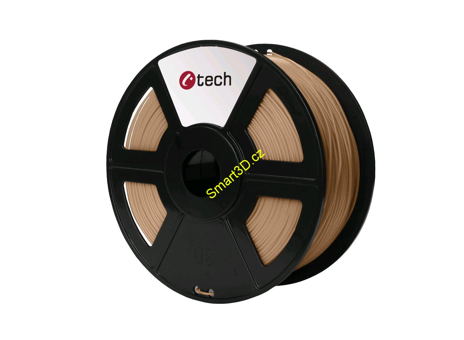Filament C-TECH / PLA / DŘEVO / 1,75 mm / 1 kg