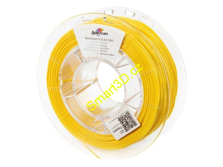 "Filament SPECTRUM / S-FLEX 90A / ŽLUTÁ ""BAHAMA"" / 1,75 mm / 0,25 kg"