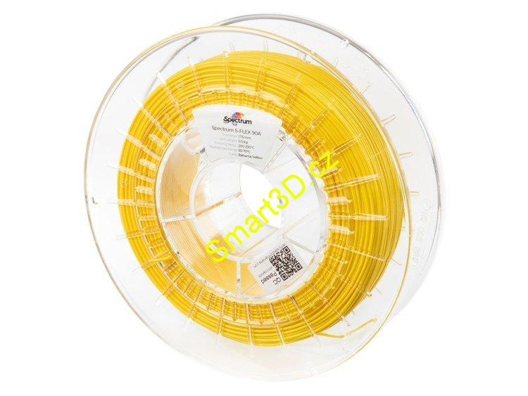 "Filament SPECTRUM / S-FLEX 90A / ŽLUTÁ ""BAHAMA"" / 1,75 mm / 0,50 kg"
