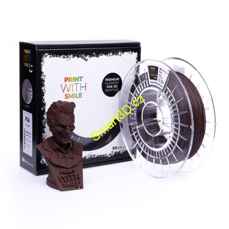 Filament PRINT WITH SMILE / PLA WOOD / EBEN / 1,75 mm / 450 g.