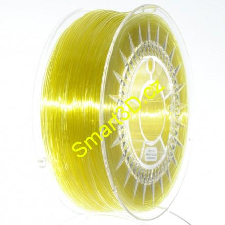 Filament DEVIL DESIGN / PETG / BRIGHT YELLOW TRANSPARENT / 1,75 mm / 1 kg.