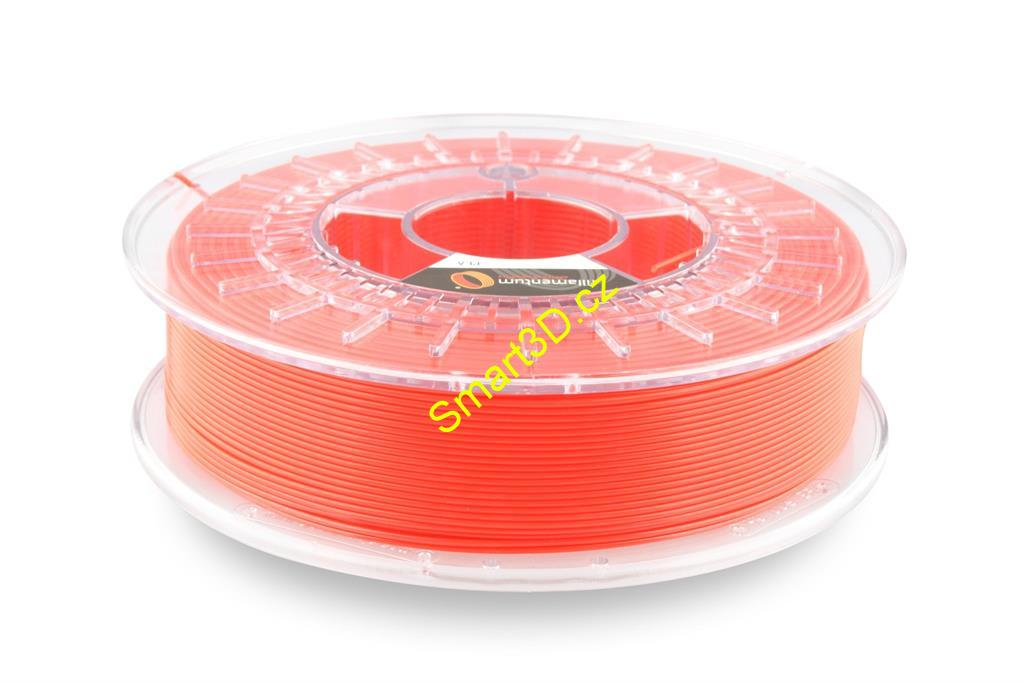 Filament FILLAMENTUM / PLA / LUMINOUS RED RAL 3024 / 1,75 mm / 0,75 kg.