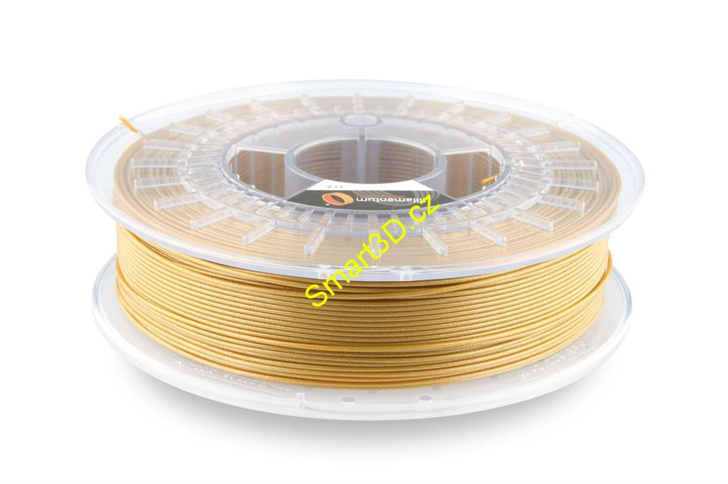 Filament FILLAMENTUM / PLA / GOLD HAPPENS / 1,75 mm / 0,75 kg.