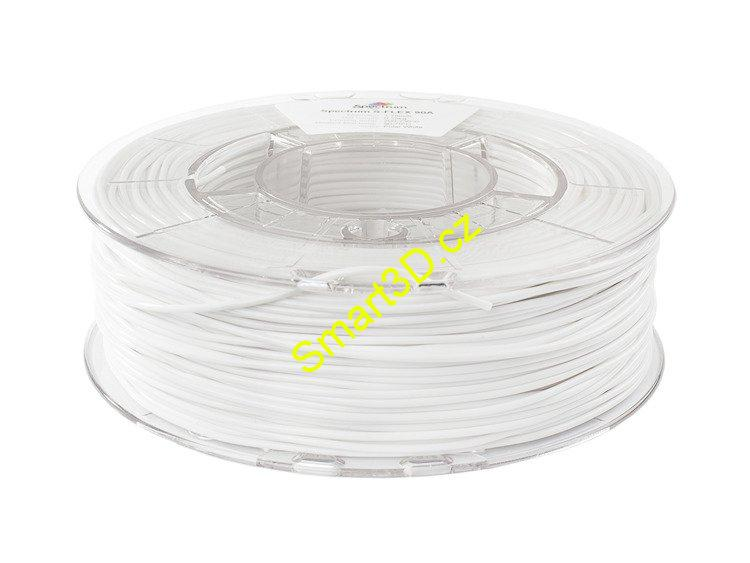 "Filament SPECTRUM / S-FLEX 90A / BÍLÁ ""POLAR"" / 1,75 mm / 0,25 kg"