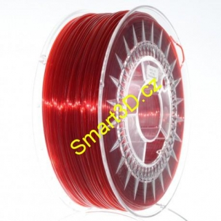 Filament DEVIL DESIGN / PETG / RUBY RED TRANSPARENT / 1,75 mm / 1 kg.